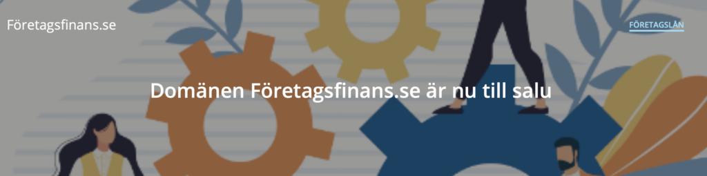 Företagsfinans.se säljes